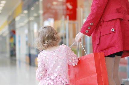 Podczas zakupów markowego ubrania dla dziecka